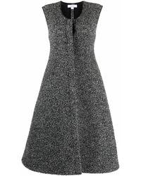 Beaufille Sleeveless Melange Flared Dress - Grey