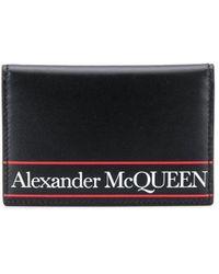 Alexander McQueen 二つ折り財布 - ブラック