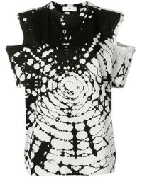 Toga Pulla - Tie Dye Cold Shoulder T-shirt - Lyst