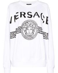 Versace Medusa Head Logo Sweatshirt - White