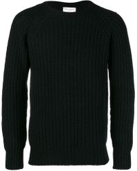 Officine Generale - Ribbed-knit Wool Sweater - Lyst