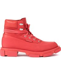 BOTH Paris Gao Military-style Boots - Red
