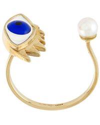 Delfina Delettrez - Eye Piercing Ring - Lyst