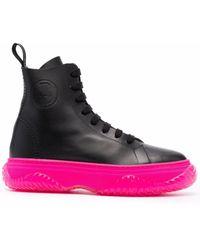 N°21 プラットフォームソール ブーツ - ブラック