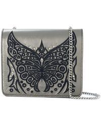 Just Cavalli | Embroidered Butterfly Shoulder Bag | Lyst