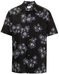Brioni - Рубашка С Жатым Эффектом И Цветочным Принтом - Lyst