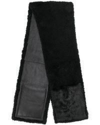 Yves Salomon ファースカーフ - ブラック