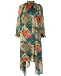 Chufy アブストラクトパターン ドレス - グリーン