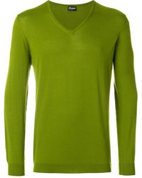 Drumohr V-neck Jumper - Green