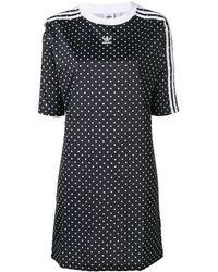 adidas ポルカドット ドレス - ブラック