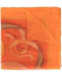 Hermès Шарф С Узором - Оранжевый