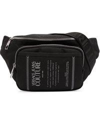 Versace Jeans Couture Поясная Сумка С Принтом Etichetta - Черный