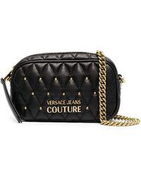 Versace Jeans Couture キルティング ショルダーバッグ - ブラック