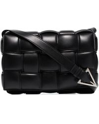 Bottega Veneta パデッド カセット ショルダーバッグ - ブラック