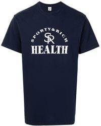 Sporty & Rich T-shirt à logo Health - Bleu