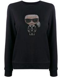 Karl Lagerfeld Ikonik Karl スウェットシャツ - ブラック