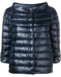 Herno Quilted Metallic Jacket - Blue