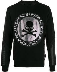 Philipp Plein Sweater Met Verfraaide Doodskop - Zwart