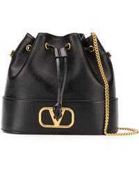 Valentino Garavani Сумка-мешок С Логотипом Vlogo - Черный
