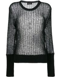 Andrea Ya'aqov Open Knit Sweater - Black