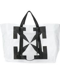 Off-White c/o Virgil Abloh Sac cabas transparent à logo - Noir