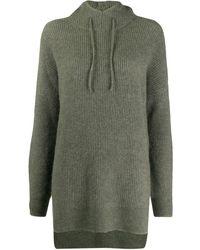 Ganni Hooded Oversized Sweater - Green