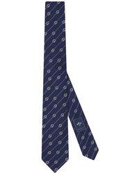 Gucci Cravate à motif monogrammé - Bleu