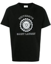 Saint Laurent - Université T-shirt - Lyst