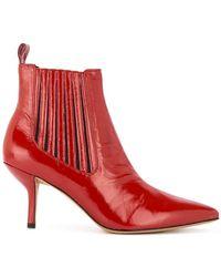 Diane von Furstenberg Mollo-5 (cherry) Shoes - Red