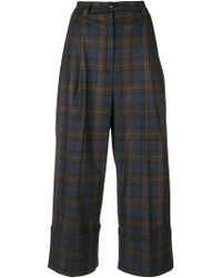 I'm Isola Marras - Cropped Check Trousers - Lyst