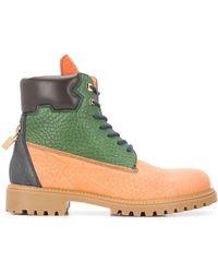 Buscemi カラーブロック ブーツ - ブラウン