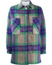 IRO Chequered Shirt Coat - Green