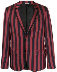 Lanvin Two Tone Striped Blazer - Red