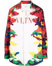 Valentino Vltn Camouflage-print Shirt - White