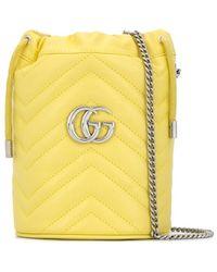 Gucci Mini GG Marmont Bucket Bag - Yellow