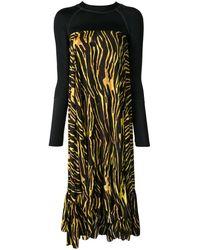 Marine Serre タイガープリント ドレス - ブラック