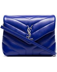 Saint Laurent - Blue Monogram Lou Lou Quilted Leather Shoulder Bag - Lyst