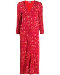 RIXO London Katie Klimt Eye Wave ドレス - レッド