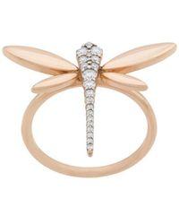 Anapsara Dragonfly ダイヤモンドリング 18kローズゴールド - マルチカラー