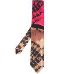 Paura Corbata con estampado tie-dye - Rosa