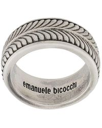 Emanuele Bicocchi エングレーブ リング - メタリック