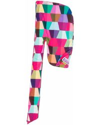 Formy Studio ジオメトリックパターン スカーフ - ピンク
