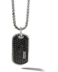 David Yurman Pavé Diamond Tag Enhancer - Black
