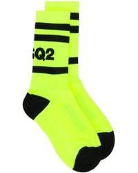 DSquared² Logo Socks - Green