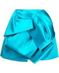 Dice Kayek Duchess Silk Origami Skirt - Blue