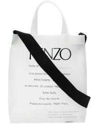KENZO - Cabas transparent Invitation - Lyst