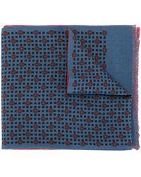 Kent & Curwen Écharpe réversible à motif géométrique - Bleu