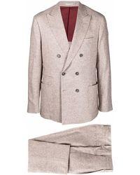 Brunello Cucinelli ダブルスーツ - ブラウン
