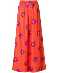 LaDoubleJ Floral flared trousers - Rouge
