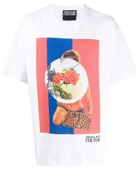Versace Jeans Couture グラフィック Tシャツ - ホワイト